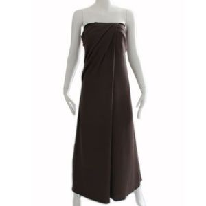 Gucci Silk Evening Gown Draped Needs Repairs Sz 44